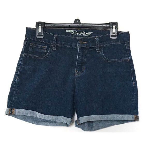 Old Navy Pants - EUC Old Navy Sweetheart Dark Wash Denim Shorts